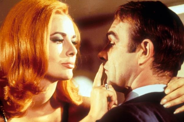 Slide 22 of 181: Karin Dor and Sean Connery in 'You Only Live Twice'