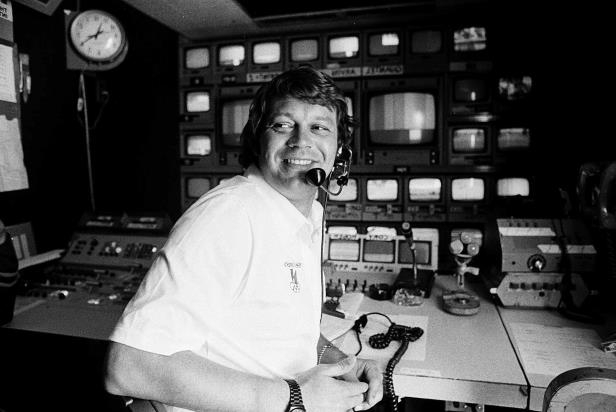 Slide 51 of 181: FILE - This April 14, 1978, file photo shows TV producer Don Ohlmeyer at a mobile TV control center during a golf tournament in Rancho Mirage, Calif.
