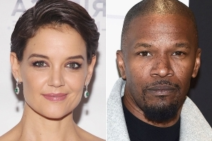 Jamie Foxx Celebrates 50th Birthday -- with Katie Holmes!