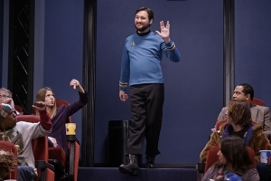 Wil Wheaton wore a Star Trek uniform to a screening of Star Wars
