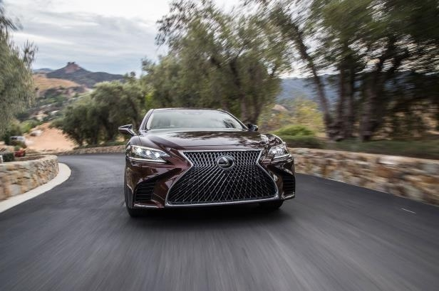 Slide 1 of 146: 2018-Lexus-LS-500-AWD-front-in-motion.jpg