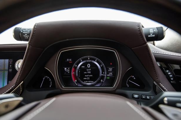 Slide 60 of 146: 2018-Lexus-LS-500-AWD-instrument-cluster.jpg
