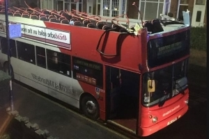 Double-Decker Bus In Birmingham Has Its Roof Completely Ripped Off Driving Under Low Railway Bridge