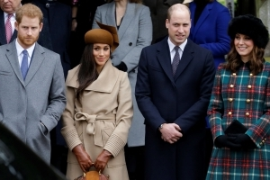 A Royal Fan Took the Best Photo of Harry, Meghan, Will and Kate on Christmas — See the Amazing Shot!