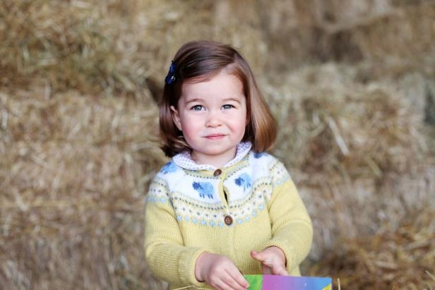 Slide 6 of 29: Britain's Princess Charlotte is seen in this undated handout photograph, taken at Anmer Hall in Norfolk, and released by Prince Willam and Catherine, Duchess of Cambridge in London on May 1, 2017.