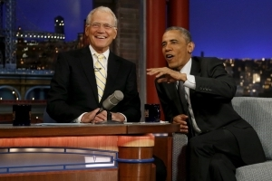 David Letterman lands Obama as first new talk show guest