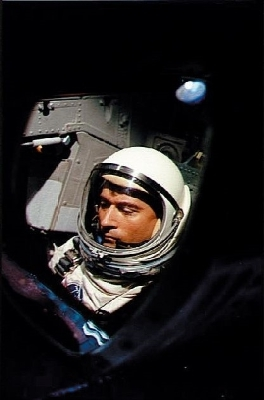 Astronaut John Young aboard Gemini III on March 23, 1965. NASA says Young, who walked on the moon and later commanded the first space shuttle flight, died on Friday, Jan. 5, 2018. He was 87.
