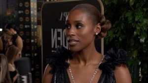 a woman standing in front of a store: Issa Rae Invites The Obamas to Dinner With Tiffany Haddish