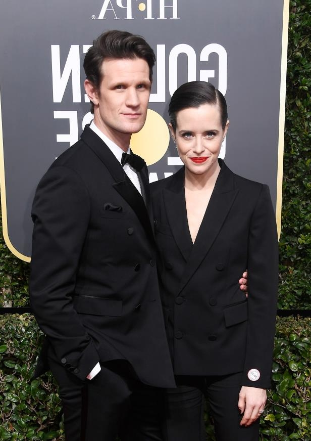 Claire Foy, Matt Smith are posing for a picture