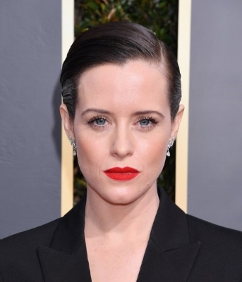 Claire Foy with collar shirt