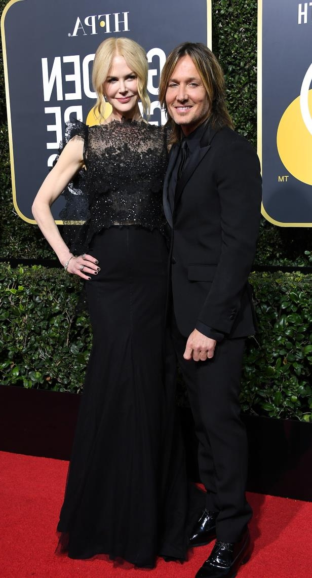 Keith Urban and Nicole Kidman on the red carpet at the 2018 Golden Globes.