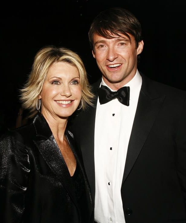 Slide 3 of 20: NEW YORK - JANUARY 19: Hugh Jackman (L) and Olivia Newton John (R) attend the 2006 Australia Day Ball to honor Olivia Newton John at Cipriani, Wall Street on January 19, 2007 in New York City. (Photo by Amy Sussman/Getty Images)