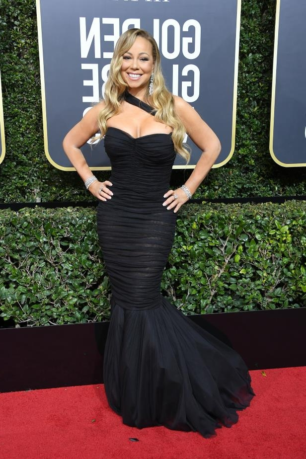 Slide 38 of 109: BEVERLY HILLS, CA - JANUARY 07: Singer Mariah Carey attends The 75th Annual Golden Globe Awards at The Beverly Hilton Hotel on January 7, 2018 in Beverly Hills, California. (Photo by Steve Granitz/WireImage)