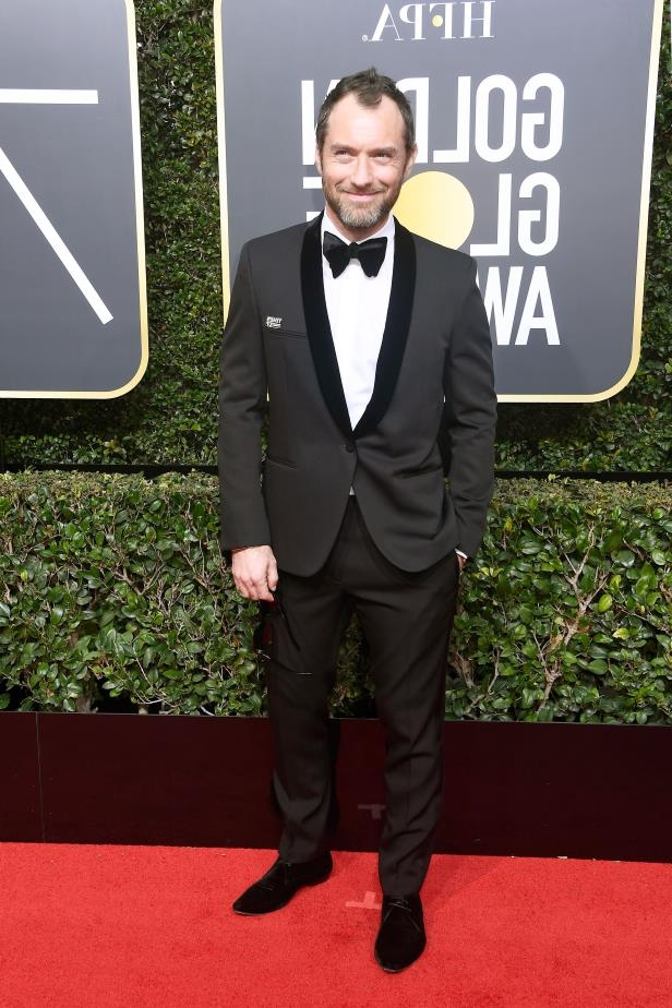 Slide 65 of 109: BEVERLY HILLS, CA - JANUARY 07: Actor Jude Law attends The 75th Annual Golden Globe Awards at The Beverly Hilton Hotel on January 7, 2018 in Beverly Hills, California. (Photo by Frazer Harrison/Getty Images)
