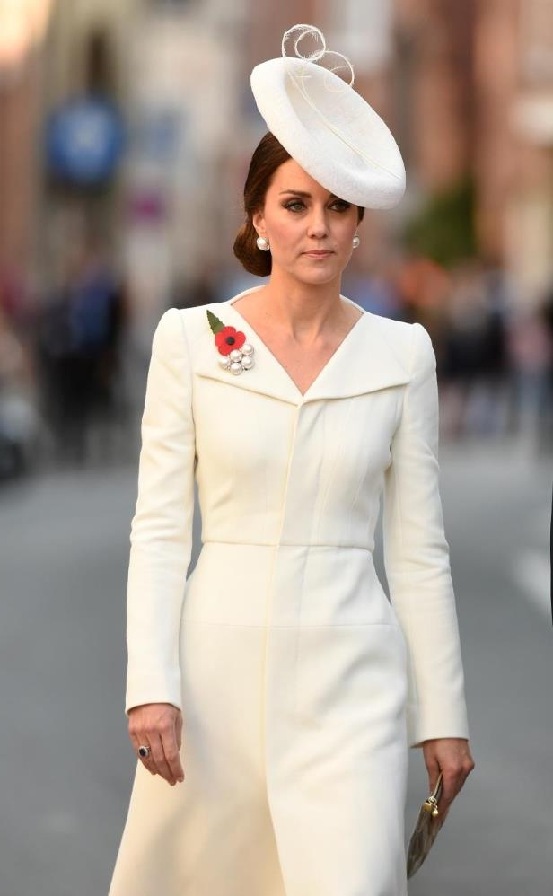 In this photo, Britain's Catherine, Duchess of Cambridge, attends a ceremony marking the centenary of the battle of Passchendaele in Ypres Western Flanders on July 30, 2017.