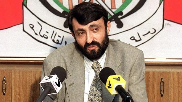 File photo from 23 September 1999 showing Imad al-Alami at a news conference in Beirut, Lebanon: Imad al-Alami - pictured here in Beirut in 1999 - lived in exile for more than 20 years