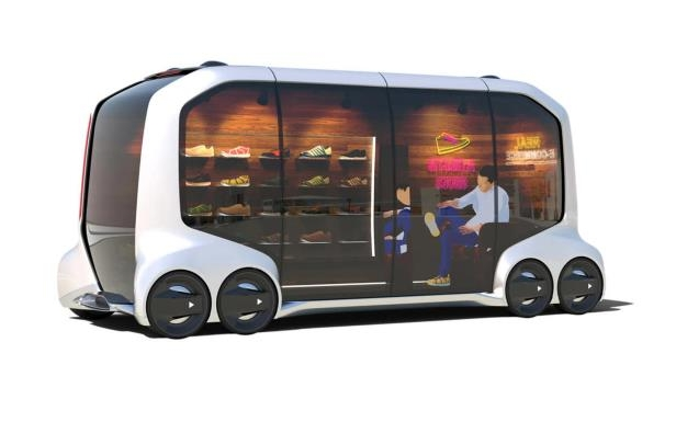 Slide 3 of 6: Toyota e-Palette Concept mobile-shoestore