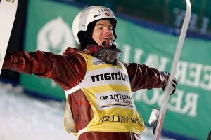 Canadian Mikael Kingsbury sets moguls record with win