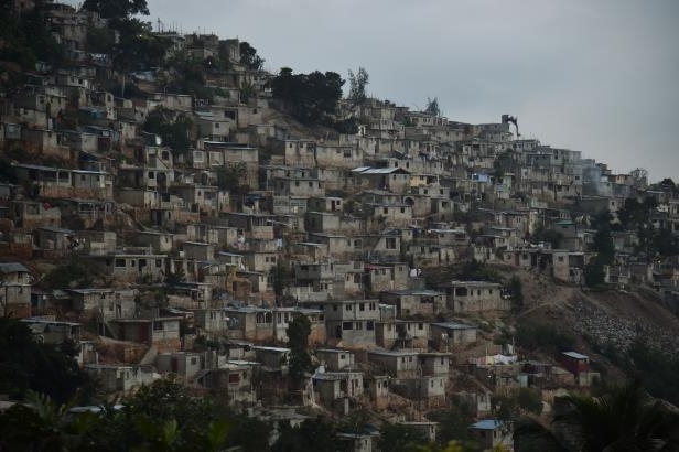 View of houses on a mountain in Juvenat, in the commune of Petion-Ville, in Port-au-Prince, on December 12, 2017.