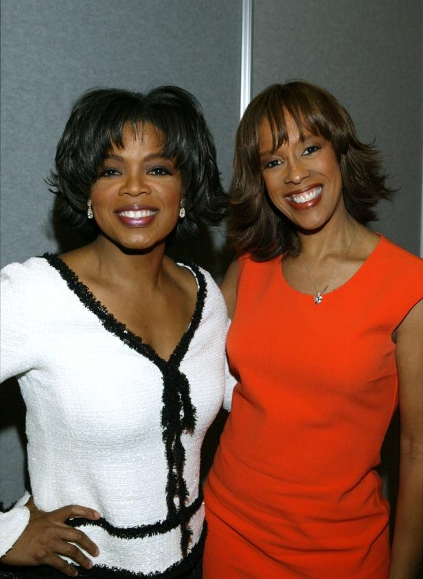 Slide 29 of 31: Oprah Winfrey Receives NAB 2004 Distinguished Service Award (EXCLUSIVE, Premium Rates Apply) Gayle King and Oprah Winfrey *Exclusive* (Photo by Mathew Imaging/FilmMagic)
