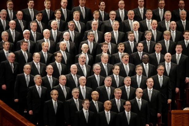 Mormon Tabernacle Choir performs during the opening session of the two-day Mormon church conference Saturday, April 2, 2016, in Salt Lake City. Mormon leaders are set to deliver guidance to their worldwide membership in a series of speeches this weekend during the religion's semiannual conference in Salt Lake City.