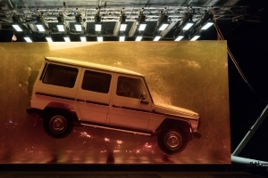 Mercedes-Benz G-Class celebrated by encasing one in giant block of amber