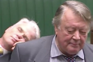 Bored of Brexit? Watch this MP fall asleep during an EU debate