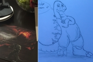 Hotel guest requests 'drawings of Godzilla' before arrival, gets them
