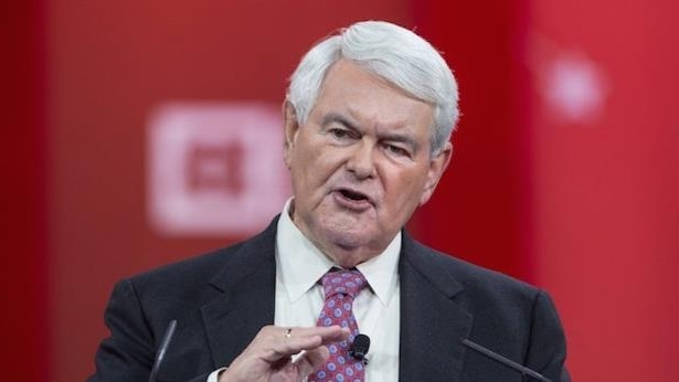 Newt Gingrich wearing a suit and tie