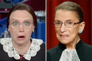 Ruth Bader Ginsburg Is Down With Kate McKinnon's 'SNL' Version of Her (Video)