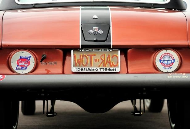 Slide 13 of 31: 013-jard-1955-ford-thunderbird-gasser-rear-detail.jpg