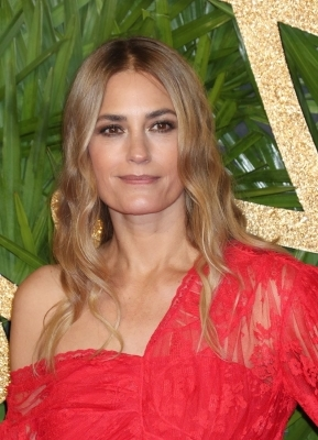 Yasmin Le Bon smiling for the camera