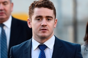 Alleged victim in rape trial of Irish rugby players cried as she began giving evidence this morning
