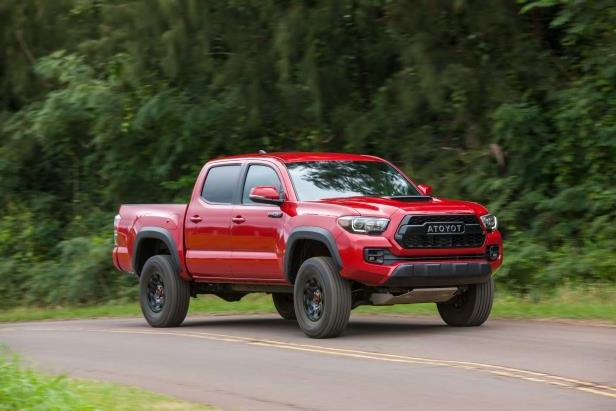 Slide 73 of 87: 2017-Toyota-Tacoma-4x4-TRD-Pro-front-three-quarter-in-motion-05.jpg