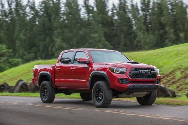 Slide 76 of 87: 2017-Toyota-Tacoma-4x4-TRD-Pro-front-three-quarter-in-motion-02.jpg