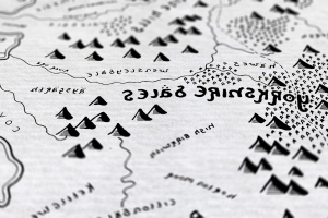 An artist is reimagining England's national parks in the style of J.R.R. Tolkien's maps