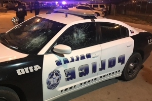 Dallas sledgehammer spree ends with 12 police cars damaged, man in jail