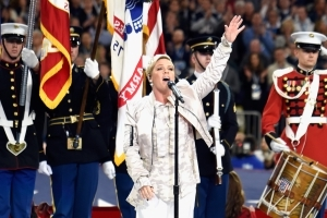 Pink Singing the National Anthem With the Flu Won the Super Bowl Before It Even Started