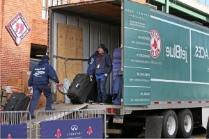Red Sox loading 20,400 baseballs, other equipment for Truck Day