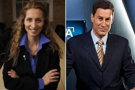Steve Paikin, Sarah Thomson are posing for a picture: TVO host Steve Paikin, (left), faces sexual harassment allegations from former Toronto mayoral candidate Sarah Thomson, (right).