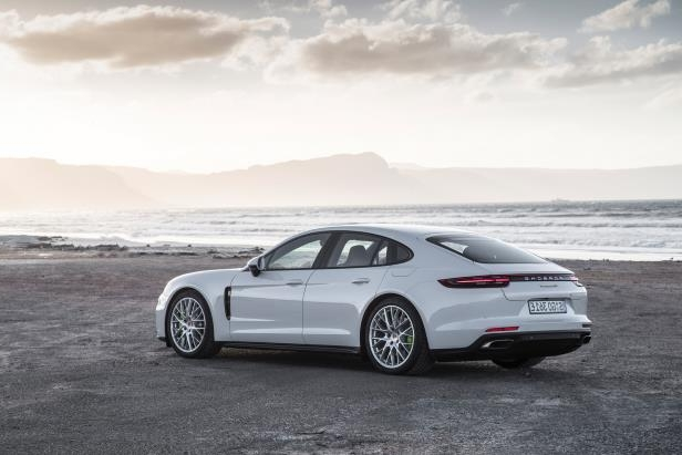 Slide 22 of 93: 2018-Porsche-Panamera-4-E-Hybrid-Beach-Side.jpg