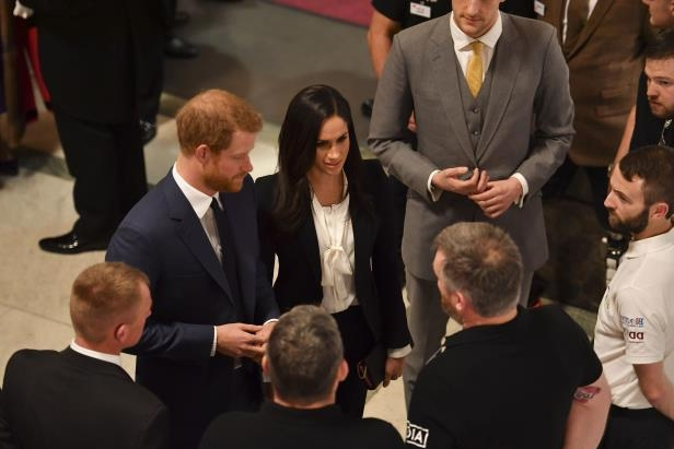 Prince Harry and Meghan Markle attend the annual Endeavour Fund Awards at Goldsmiths' Hall in London, to celebrate the achievements of wounded, injured and sick servicemen and women who have taken part in sporting and adventure challenges over the last year.