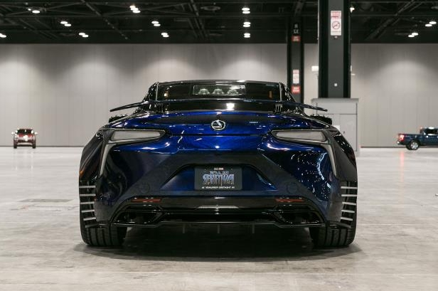 Slide 31 of 70: Lexus-LC-Black-Panther-concept-car-rear-view.jpg