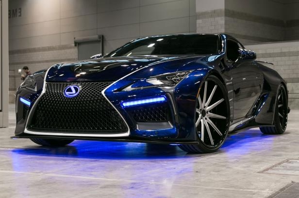Slide 32 of 70: Lexus-LC-Black-Panther-concept-car-front-seven-eighths.jpg