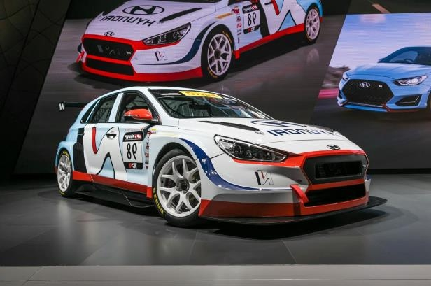 Slide 38 of 70: 2018-Hyundai-i30-N-TCR-Racecar-front-three-quarter.jpg