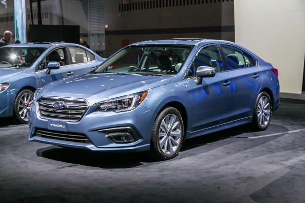 Slide 51 of 70: 2018-Subaru-Legacy-50th-Anniversary-Edition-front-three-quarter-01.jpg