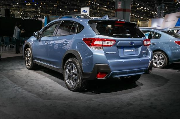 Slide 54 of 70: 2018-Subaru-Crosstrek-50th-Anniversary-Edition-rear-three-quarter.jpg