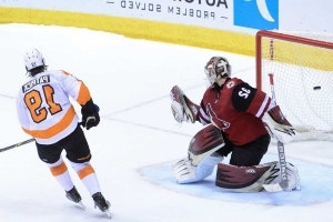 Coyotes come up empty in shootout vs. Flyers backup goalie