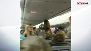 Passengers scream as plane's wing catches fire