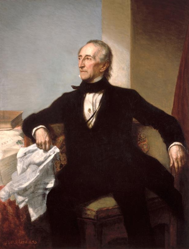 Slide 11 of 44: Official portrait of President John Tyler by George P.A. Healy (American, 1813 - 1894); oil on canvas, 1859, from the White House collection, Washington.